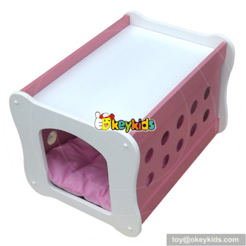 Hot sale comfortable rectangle wooden dog beds for children W06F004B