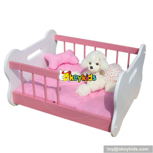 new design easy clean wooden luxury dog bed for gift W06F005A