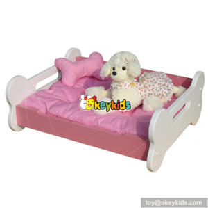 wholesale lovely children wooden cozy pet bed for sale W06F007A