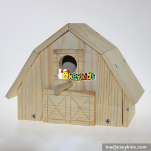 high quality natural outdoor hanging wooden bird house W06F012