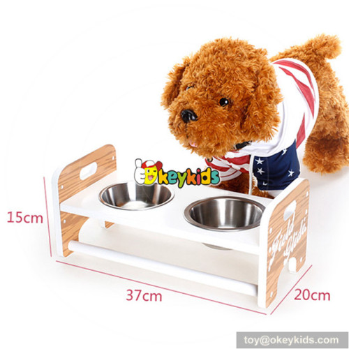 top fashion wooden lovely pet food bowl for sale W06F013
