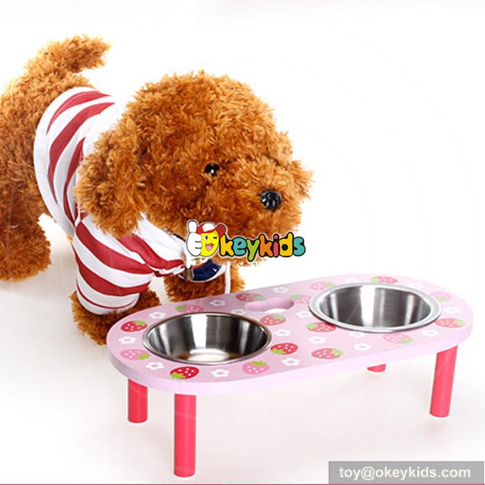 wooden pet feeder