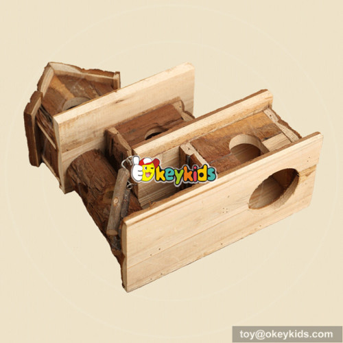 New fashion animals accessories wooden hamster homes for sale W06F017