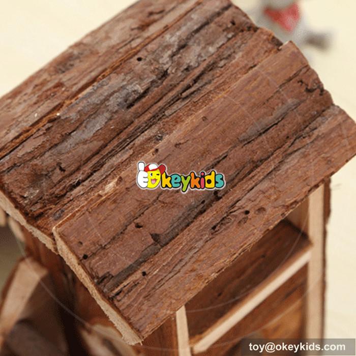 wooden hamster house