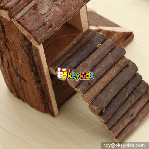 funny homes nature wooden hamster house for animal W06F018