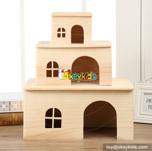New cute animal wooden pet house for sale W06F019