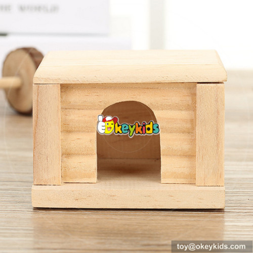 best design luxury wooden small hamster cage W06F026