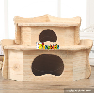 funny pet activity room nature wooden hamster cage W06F030