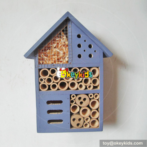 most popular handmade bee house natural wooden insect house W06F029