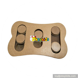 Specially designed interactive seek wooden dog puzzle toys W06F034