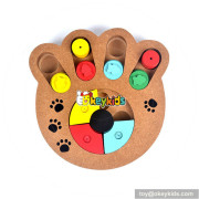 creative paw shape wooden interactive dog toys W06F035