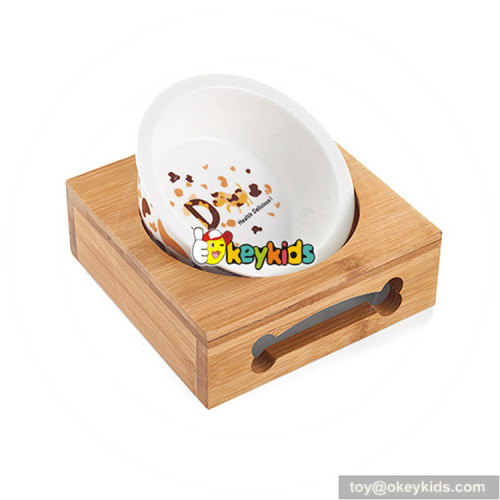 New hottest pet feeder water food wooden cat food bowls W06F062