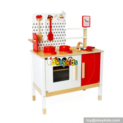 Custom cooking toy children wooden kitchen playsets for sale W10C035