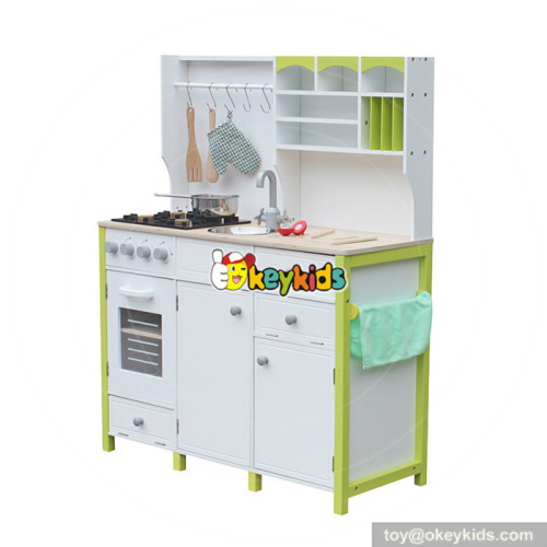 wholesale high quality toys wooden children role play kitchen with accessories W10C280