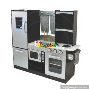 Okeykids role play big wooden modern kitchen toy for kids W10C337