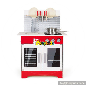 Wholesale wonderful cooking play set wooden small kitchen toy for children W10C341