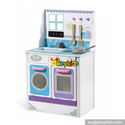 Wholesale best birthday gift for baby wooden play kitchen toy with best price W10C343