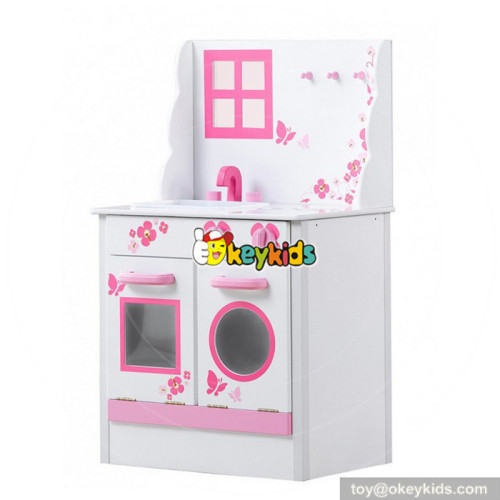Wholesale intelligent girls interactive toy wooden kitchen toy for kids W10C344