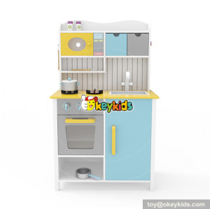 Wholesale funny kindergarten toy wooden kitchen play set for children W10C356