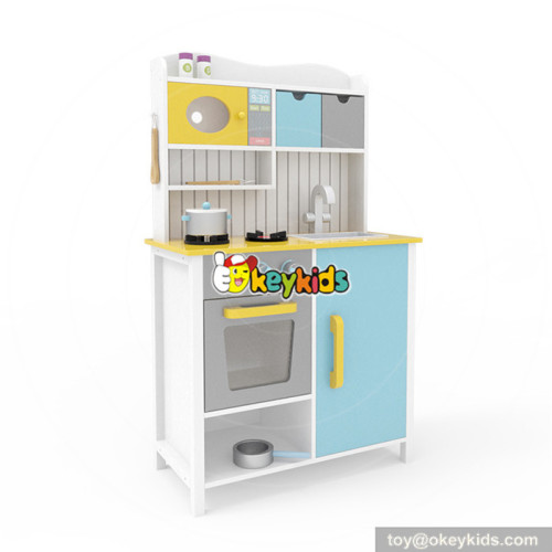 Wholesale funny kindergarten toy wooden kitchen play set for children W10C356