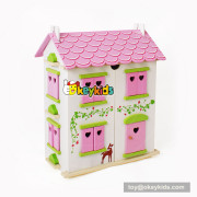 Okeykids wooden miniature dollhouse with simulation furniture for child W06A253