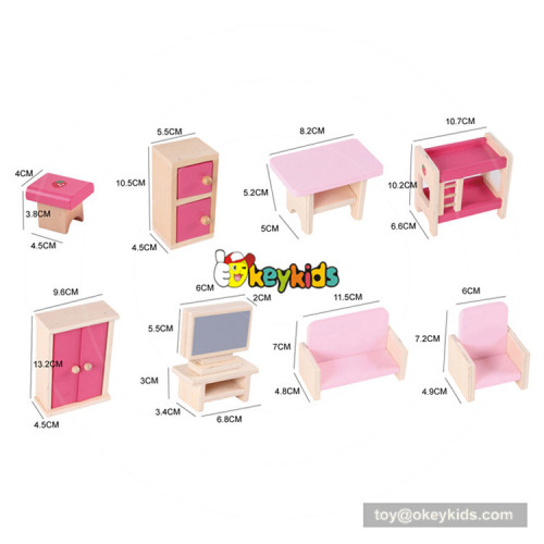 Okeykids Hot new product Kids wooden dollhouse furniture,Children wooden toy dollhouse,wholesale baby diy dollhouse W06A261