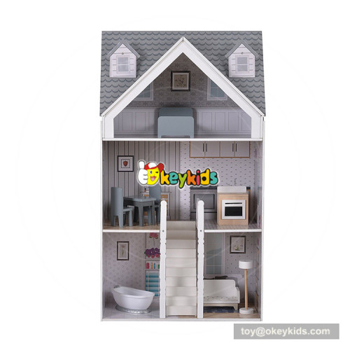 Okeykids New hottest miniature wooden american doll house for children W06A270