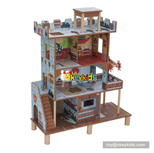 Okeykids Miniature Wooden Boy Dollhouse in Pirate Bay W06A283