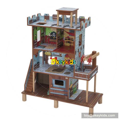 Okeykids Miniature Wooden Boy Dollhouse in Pirate Bay W06A283