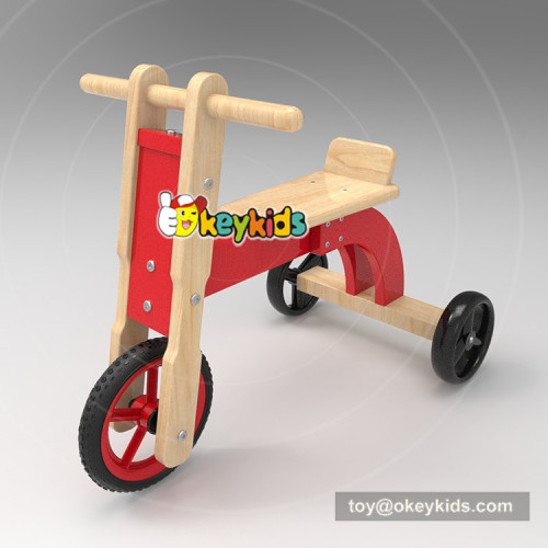 New design ride on toys wooden kids walker with three wheels W16A030