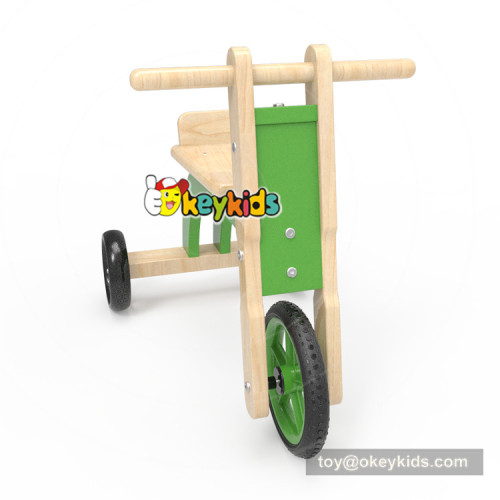 Newest design ride on toys wooden kids tricycle with handle W16A031
