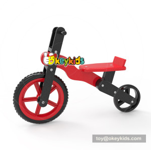 Newest design red wooden kids balance bike for learning walk W16C189