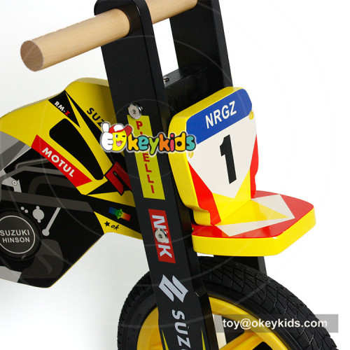 Okeykids Newest design safety no-pedal wooden balance bike bicycle for kids W16C192