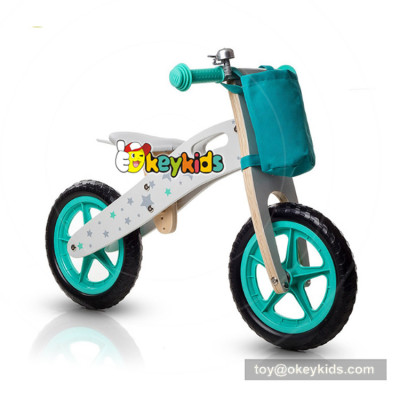 Okeykids Newest design children walking bike wooden balanced boys bicycles without pedal W16C194
