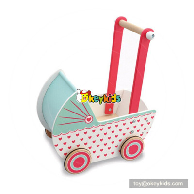 okeykids educational toys wooden push cart for baby W16E081