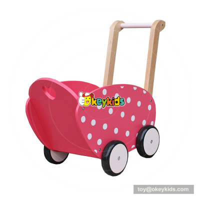 okeykids new hottest baby push along toys wooden dolls pram for for children W16E086