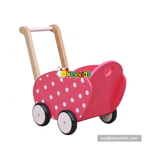 okeykids new hottest baby push along toys wooden dolls pram for for children W16E086