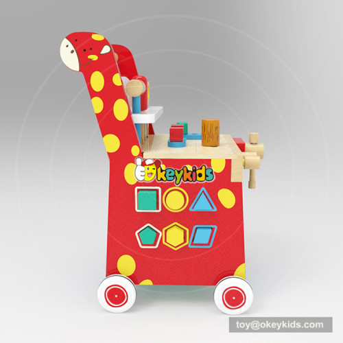 okeykids new Original Design educational play set wooden toy tool bench for kids W16E094