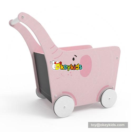 2018 New Original Design Elephant wooden baby walking toys for indoor learning walker W16E095