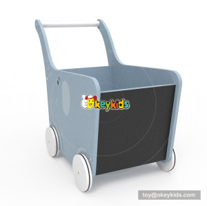 2018 New Original Design gray elephant wooden push cart for baby W16E096
