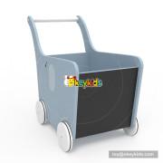 2018 New Original Design gray elephant wooden push cart for baby W16E096