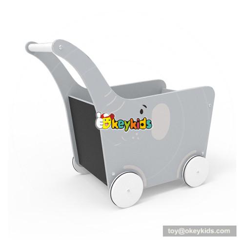 2018 New Original Design animal push walker wooden baby trolley walker for preschoolers W16E097