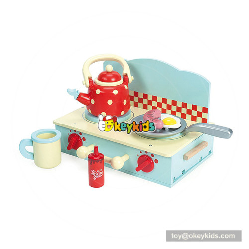 Okeykids  girls wooden toy stove with play food W10C359