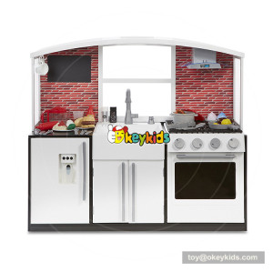Okeykids  America style wooden large toy kitchen for children W10C361