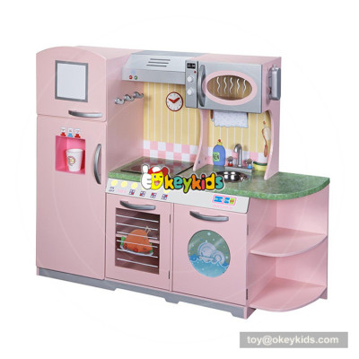 Okeykids children big wooden kids kitchen playsets for toddlers ages 3+ W10C368