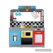 Okeykids fashion America wooden play kitchen toy for kids W10C369