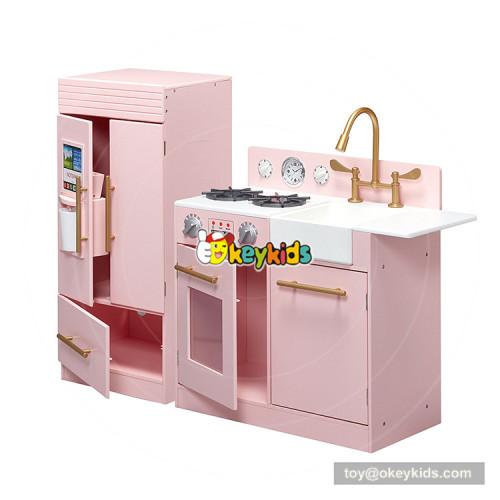 Okeykids hottest miniature large wooden toy kitchen sets for girls W10C370