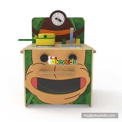 Okeykids original design wooden kids kitchen play set for pretend W10C381