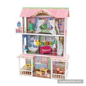 Okeykids  fashion wooden barbie dream castle dollhouse toy W06A267