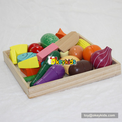 wholesale fashion children wooden cut fruit toy for sale W10B173